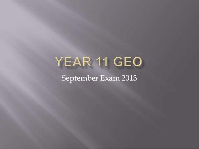 September Exam 2013