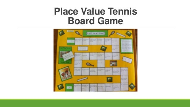 Place Value Tennis Board Game
