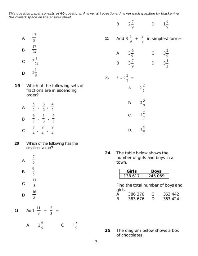 Year 5 mathematics exercises