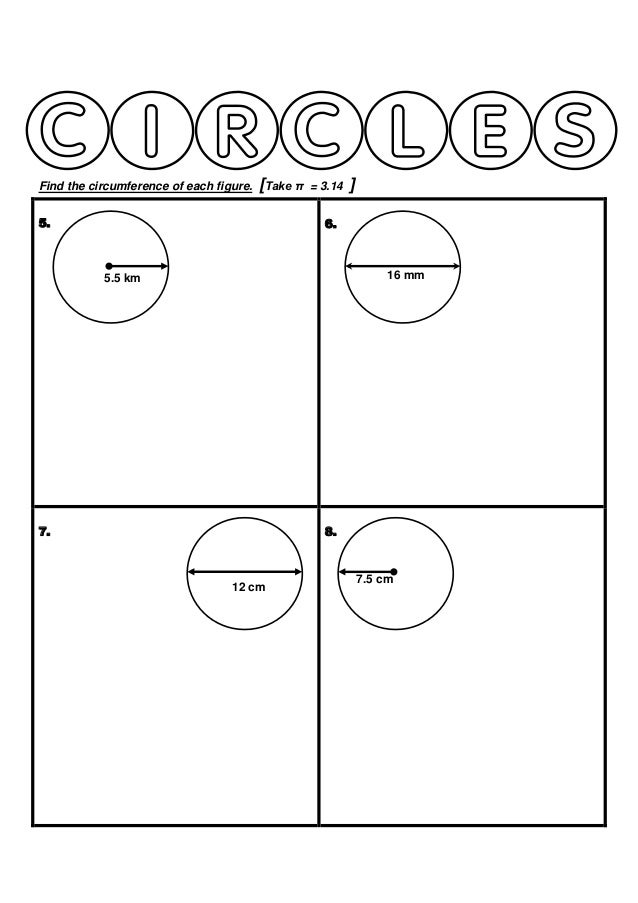Year 6 Circumference of Circles Worksheet – Circumference of a Circle Worksheets