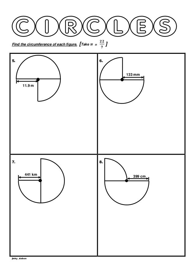 Year 6 Circumference of ThreeQuadrants Worksheet – Circumference Worksheet