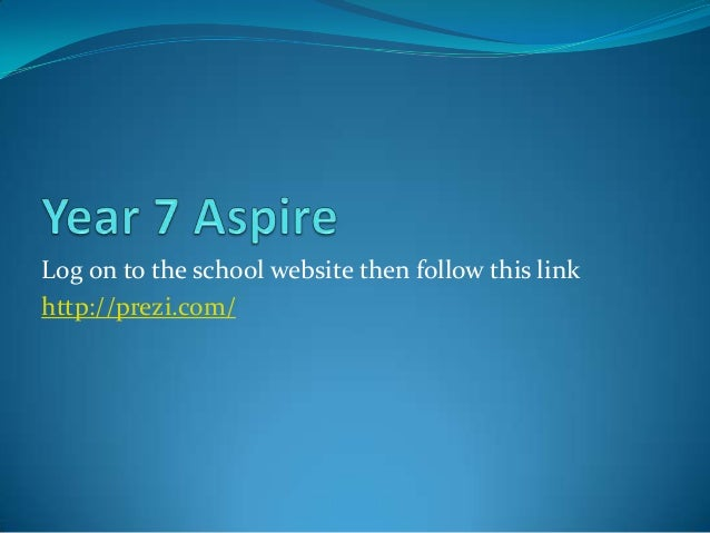 Log on to the school website then follow this link http://prezi.com/