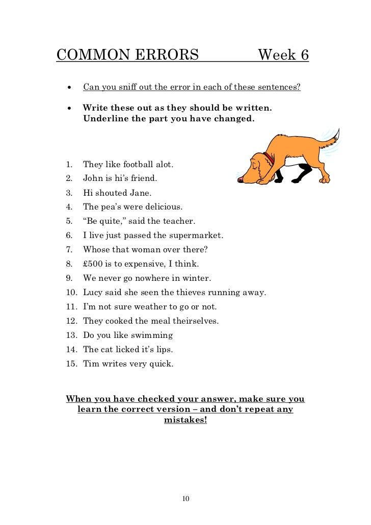 Year 6 homework booklet