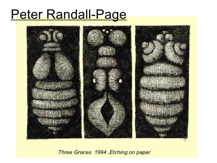 Peter Randall-Page       Three Graces 1994 ,Etching on paper