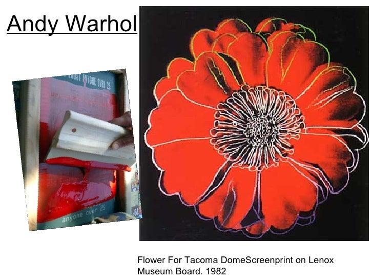 Andy Warhol          Flower For Tacoma DomeScreenprint on Lenox          Museum Board. 1982