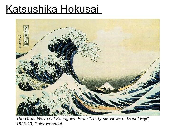 "Katsushika Hokusai  The Great Wave Off Kanagawa From ""Thirty-six Views of Mount Fuji"";  1823-29, Color woodcut,"