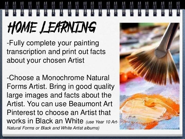 The third Artist you need to research should be an Artist who works primarily with print. You are going to create your own...