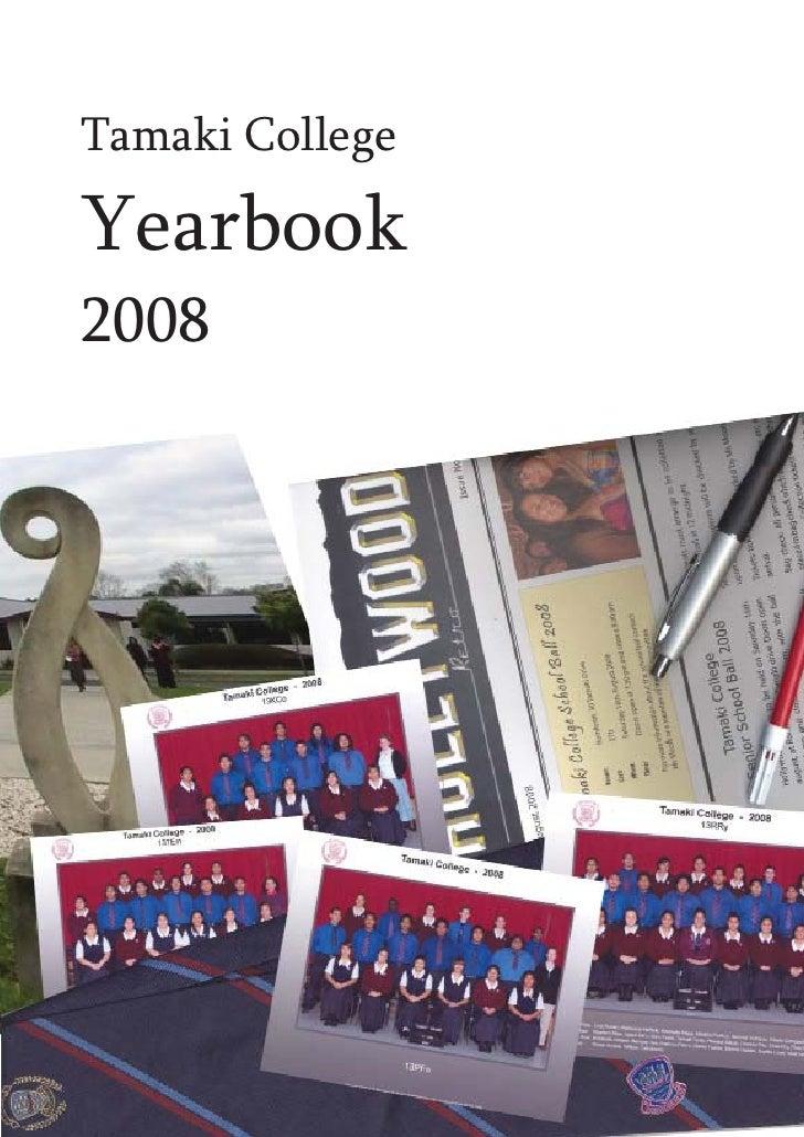 Tamaki CollegeYearbook2008