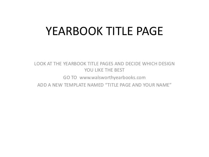 West Las Vegas Middle School Yearbook Title Page