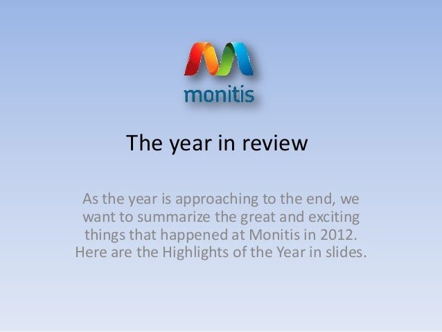 The year in review As the year is approaching to the end, we want to summarize the great and exciting things that happened...
