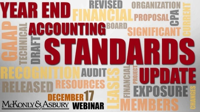 YEAR END ACCOUNTING STANDARDS UPDATE Janice Snyder, Partner