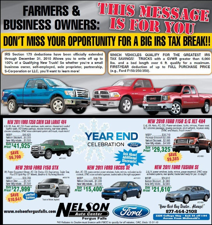 Year End Celetion - Nelson Auto Center Fergus Falls MN