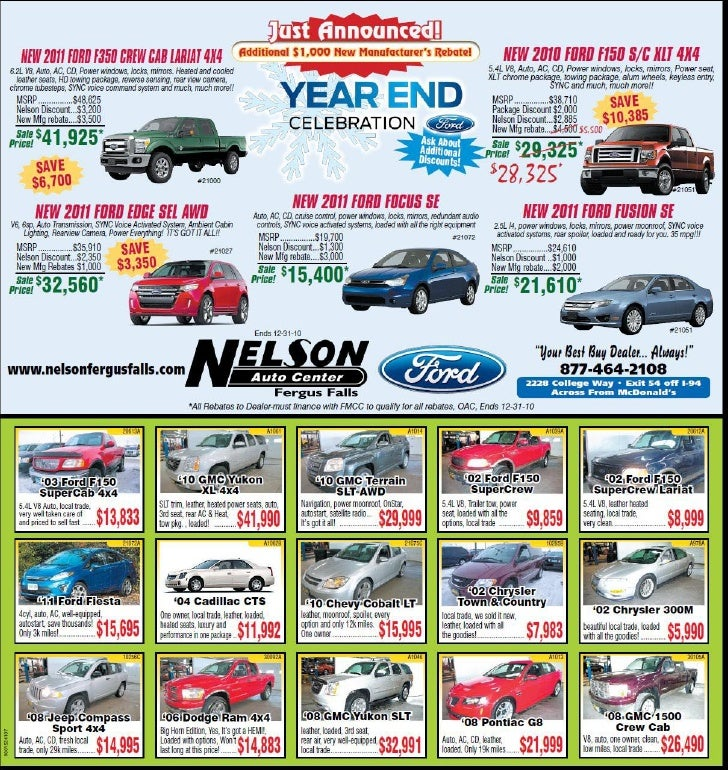 Year End Celetion at Nelson Auto Center Fergus Falls MN
