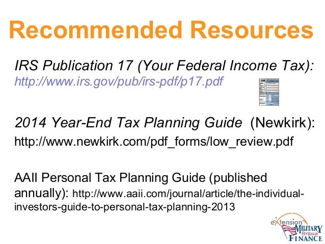 Year End Tax Planning Strategies 2014