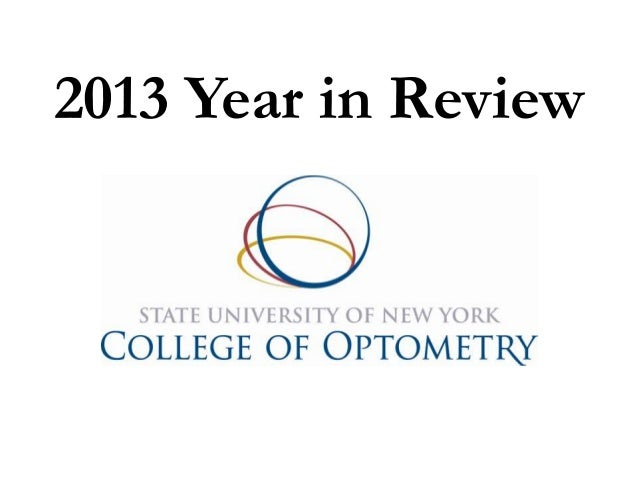 SUNY College of Optometry 2013 Year in Review