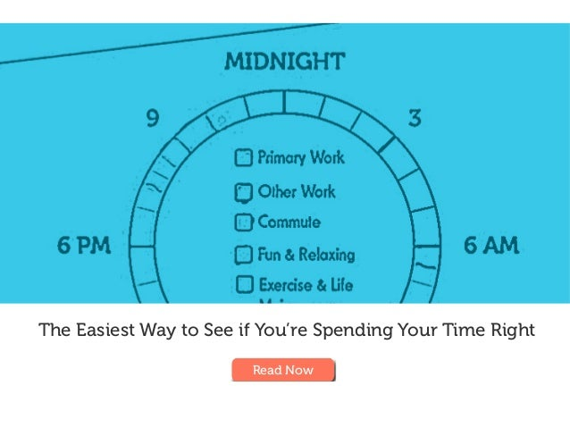 The Easiest Way to See if You're Spending Your Time Right Read Now
