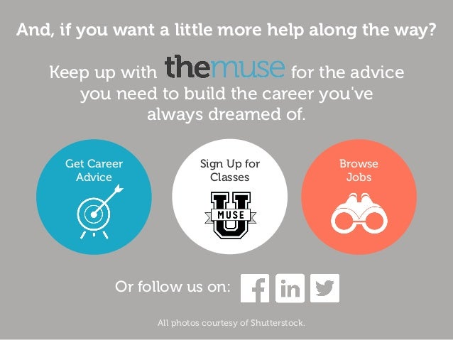 And, if you want a little more help along the way? Keep up with for the advice you need to build the career you've always ...
