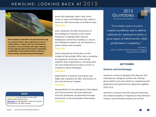 LLNL 2015 Year in Review