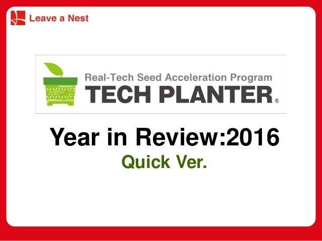 マスター タイトルの書式設定 • マスター テキストの書式設定 – 第 2 レベル • 第 3 レベル – 第 4 レベル » 第 5 レベル Year in Review:2016 Quick Ver.