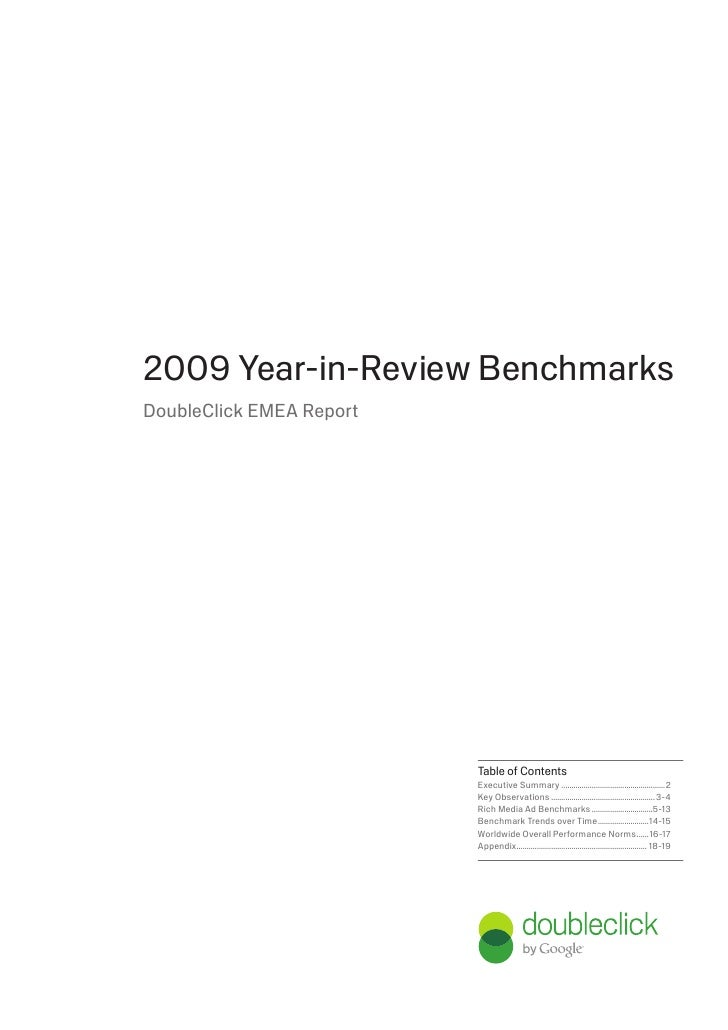 DoubleClick: EMEA Report – 2009 Year-in-Review Benchmarks