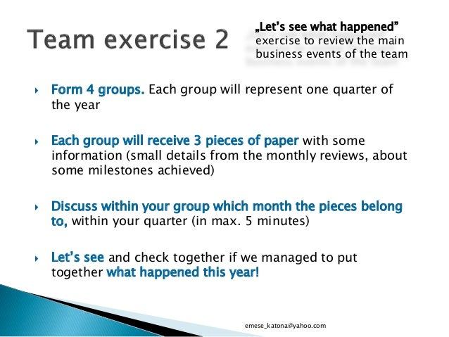 Year-end review for team meeting - template for managers