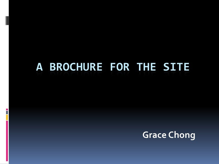a brochure for the site<br />Grace Chong<br />