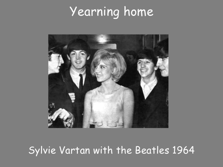 Yearning homeSylvie Vartan with the Beatles 1964