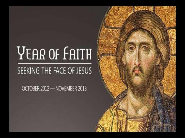 "Pope Benedict XVI         • In his           Apostolic           Letter           ""Porta Fidei""           announced…."