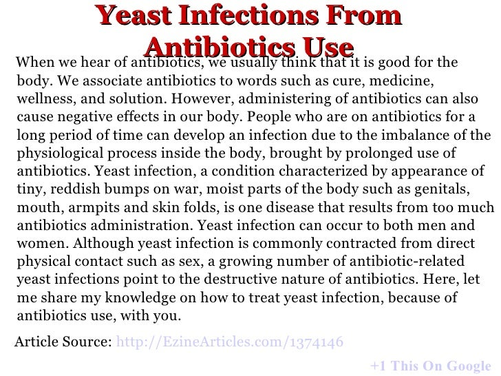 Can antibiotics cause yeast infection? Yeast infection ...