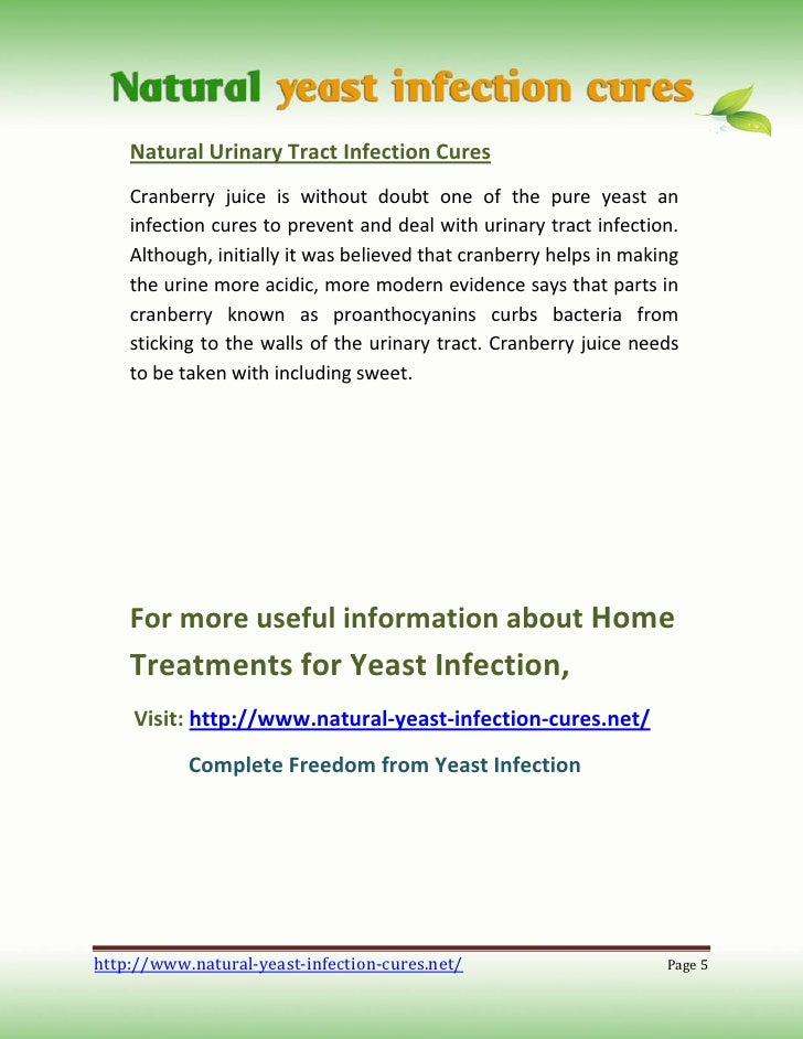Natural Urine Infection Cures