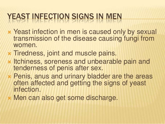 Pictures anal yeast infection in men