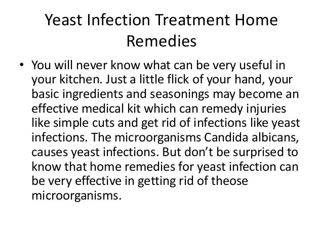 Clear Yeast Infection Home Remedies