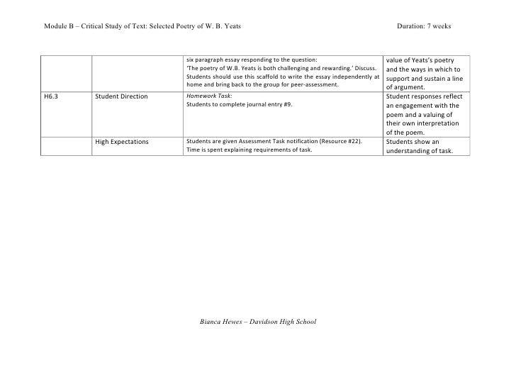 Module b essay speeches