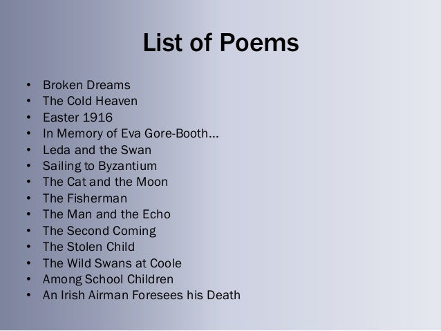 Yeats Famous Poems 1