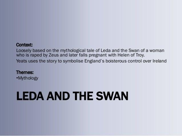william butler yeats leda and the swan analysis