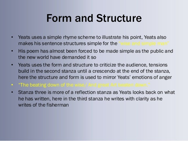 Form And Structure In Poetry - Lessons - Tes Teach