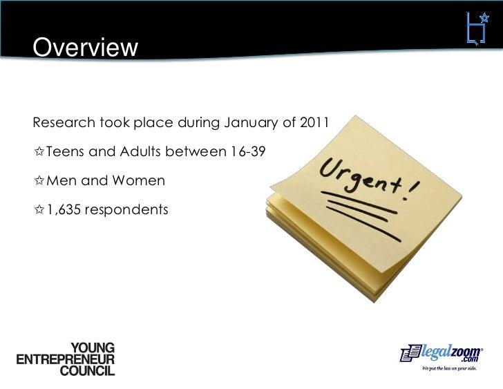 Youth Entrepreneurship Study - by BMG and YEC Slide 2