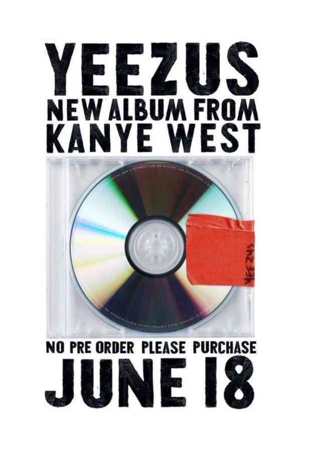 Kanye West 'Yeezus' music magazine advert analysis