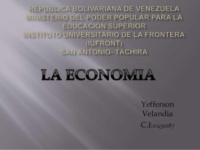 Yefferson Velandia C.I:21452087