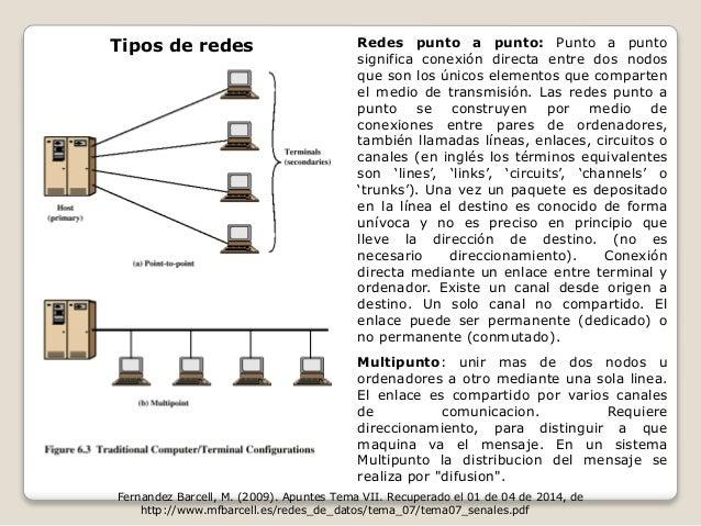 Redes punto a punto: Punto a punto  significa conexión directa entre dos nodos  que son los únicos elementos que comparten...