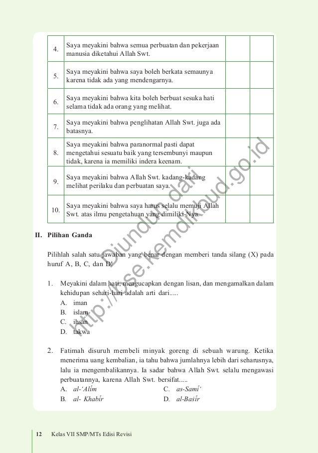 Pendidikan Agama Islam Dan Budi Pekerti Kelas 7 Buku Siswa Edisi Re