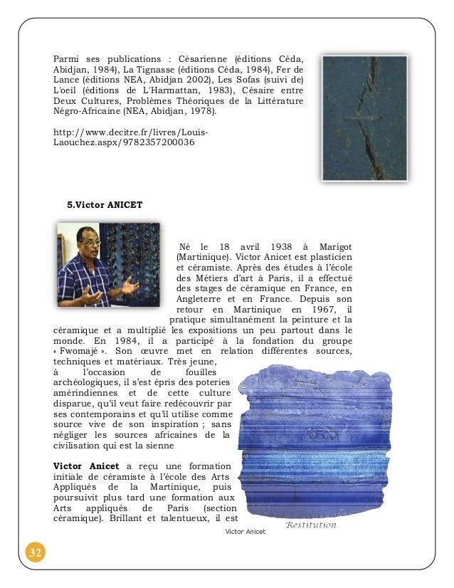 Parmi ses publications : Césarienne (éditions Céda,     Abidjan, 1984), La Tignasse (éditions Céda, 1984), Fer de     Lanc...