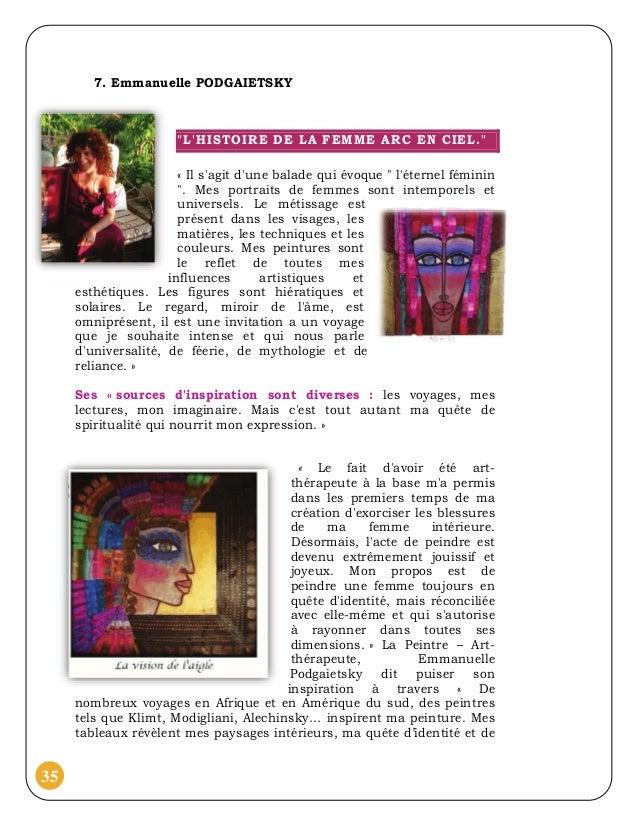 """7. Emmanuelle PODGAIETSKY                      """"LHISTOIRE DE LA FEMME ARC EN CIEL.""""                       « Il sagit dune ..."""