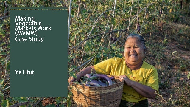 Making Vegetable Market Work – What is it? • Improve the vegetable market system for 15,000 smallholder farmers in Souther...