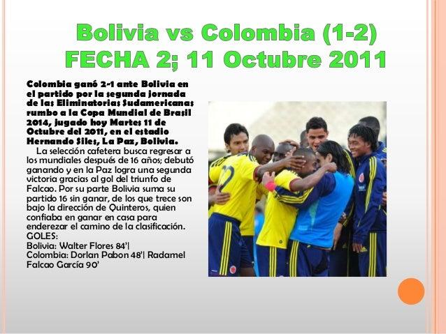 Colombia ganó 2-1 ante Bolivia en el partido por la segunda jornada de las Eliminatorias Sudamericanas rumbo a la Copa Mun...