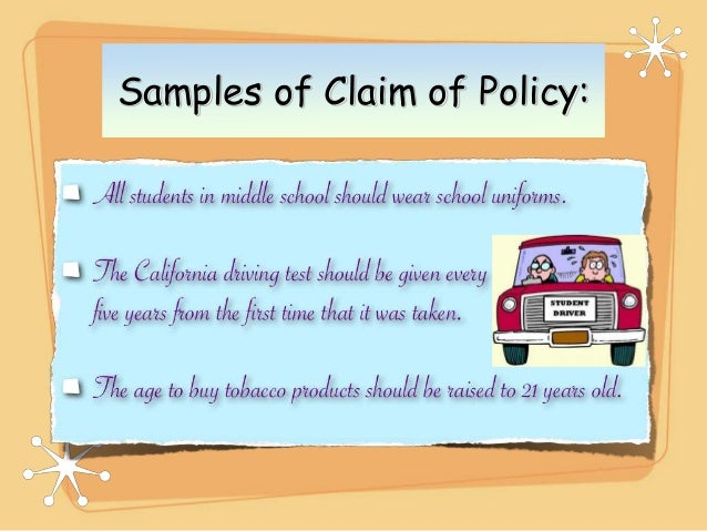 samples of claim of policy