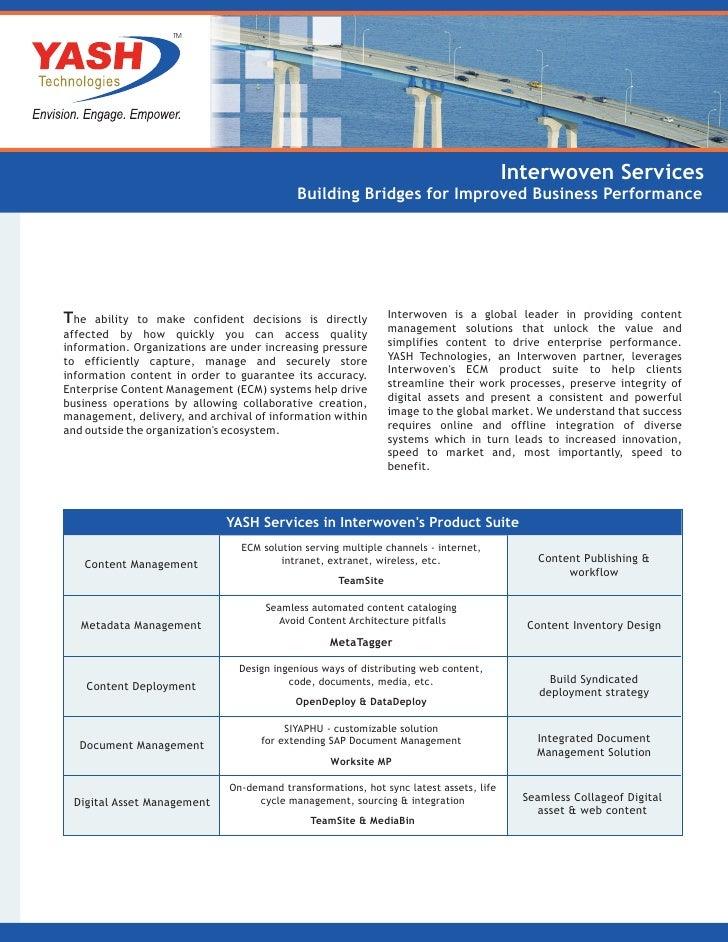 TM                                                                                        Interwoven Services             ...
