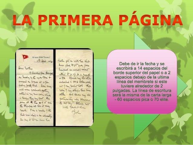 Carta de dos paginas