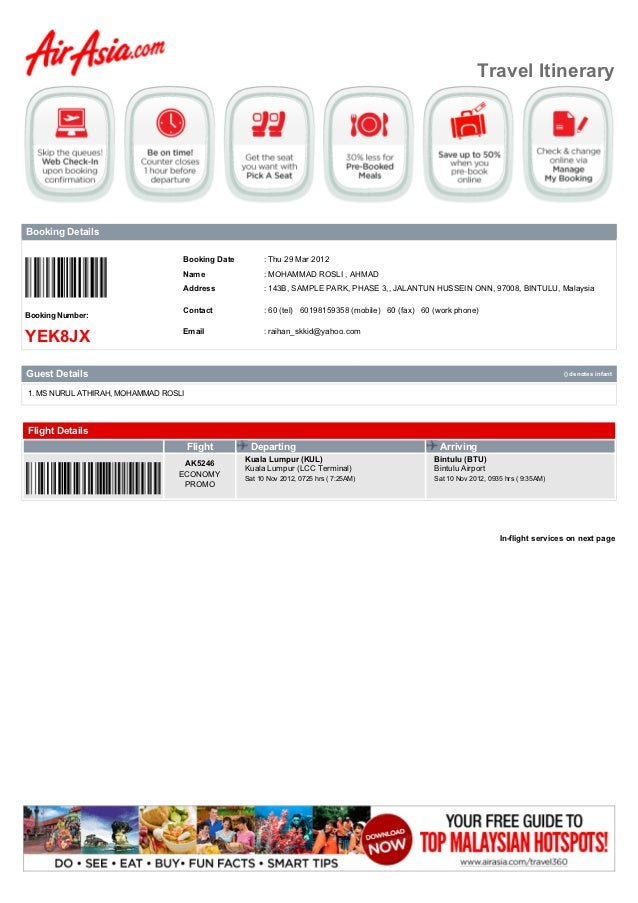 Travel ItineraryBooking Details                                  Booking Date        : Thu 29 Mar 2012                    ...