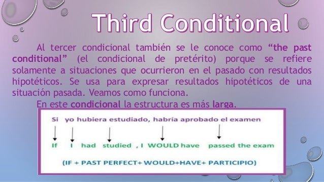 Ingles Ii Conditional Verbs